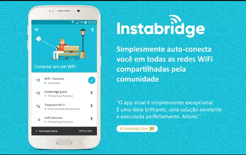 Instabridge senha wifi Gratis