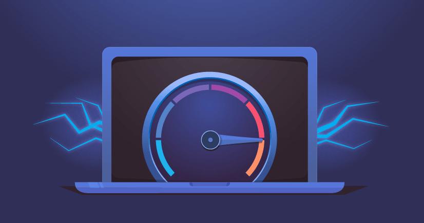 velocidade da sua internet